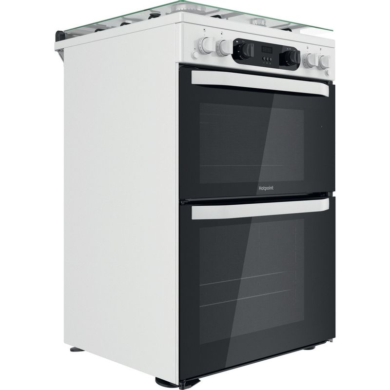 Hotpoint-Double-Cooker-HDM67G0CCW-UK-White-A--Perspective