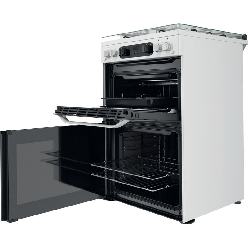 Hotpoint-Double-Cooker-HDM67G0CCW-UK-White-A--Perspective-open