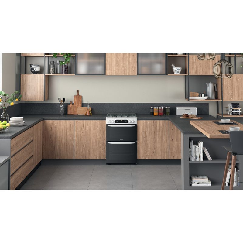 Hotpoint-Double-Cooker-HDM67G0CCW-UK-White-A--Lifestyle-frontal