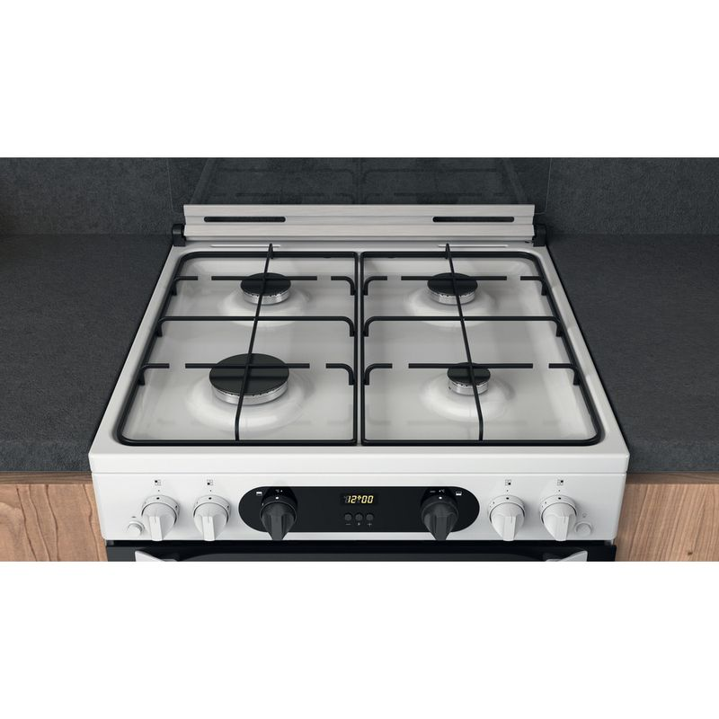 Hotpoint-Double-Cooker-HDM67G0CCW-UK-White-A--Lifestyle-frontal-top-down
