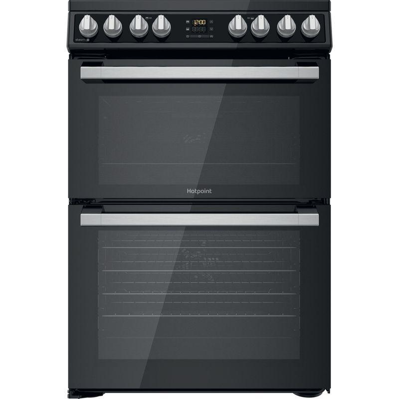 Hotpoint-Double-Cooker-HDT67V8D2CB-UK-Black-A-Frontal