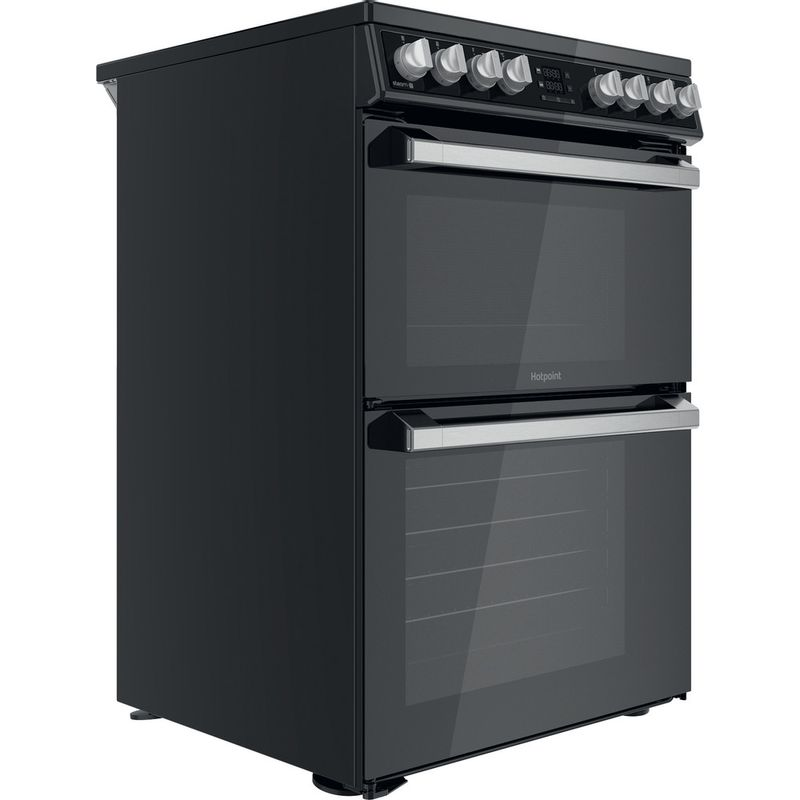 Hotpoint-Double-Cooker-HDT67V8D2CB-UK-Black-A-Perspective