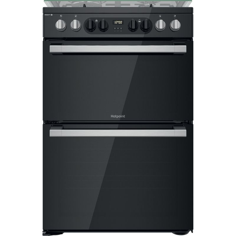 Hotpoint-Double-Cooker-HDM67G8CCB-UK-Black-A-Frontal