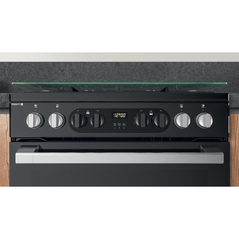 Hotpoint-Double-Cooker-HDM67G8CCB-UK-Black-A-Lifestyle-control-panel