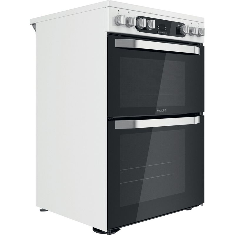 Hotpoint-Double-Cooker-HDM67V9HCW-UK-1-White-A-Perspective