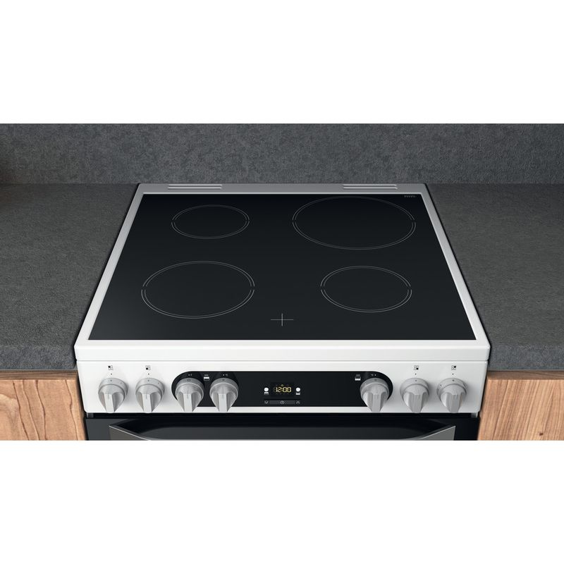 Hotpoint-Double-Cooker-HDM67V9HCW-UK-1-White-A-Lifestyle-frontal-top-down