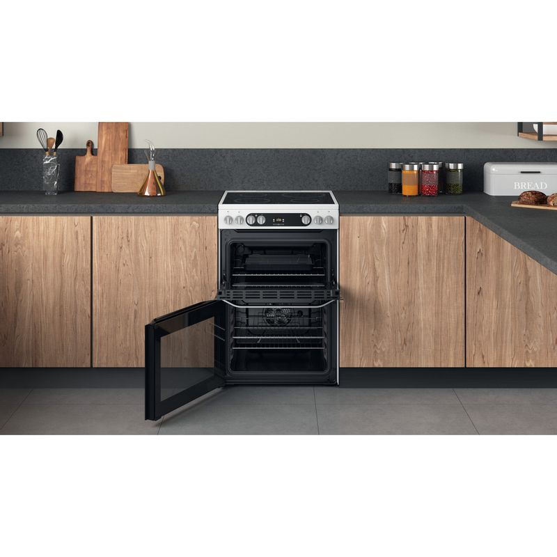 Hotpoint-Double-Cooker-HDM67V9HCW-UK-1-White-A-Lifestyle-frontal-open