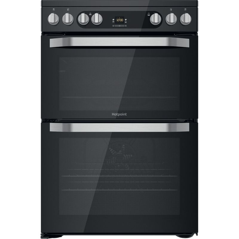 Hotpoint-Double-Cooker-HDM67V9HCB-U-Black-A-Frontal