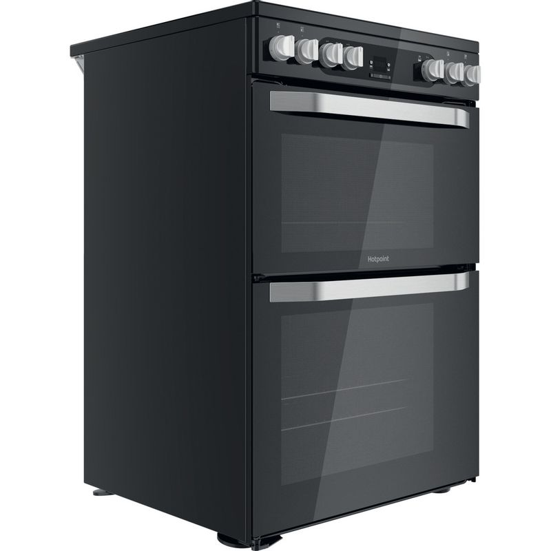 Hotpoint-Double-Cooker-HDM67V9HCB-U-Black-A-Perspective