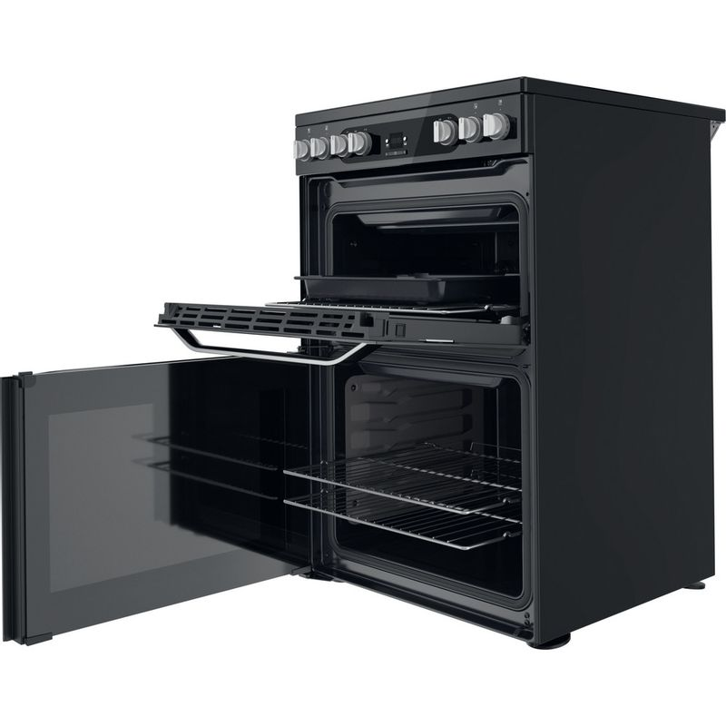 Hotpoint-Double-Cooker-HDM67V9HCB-U-Black-A-Perspective-open