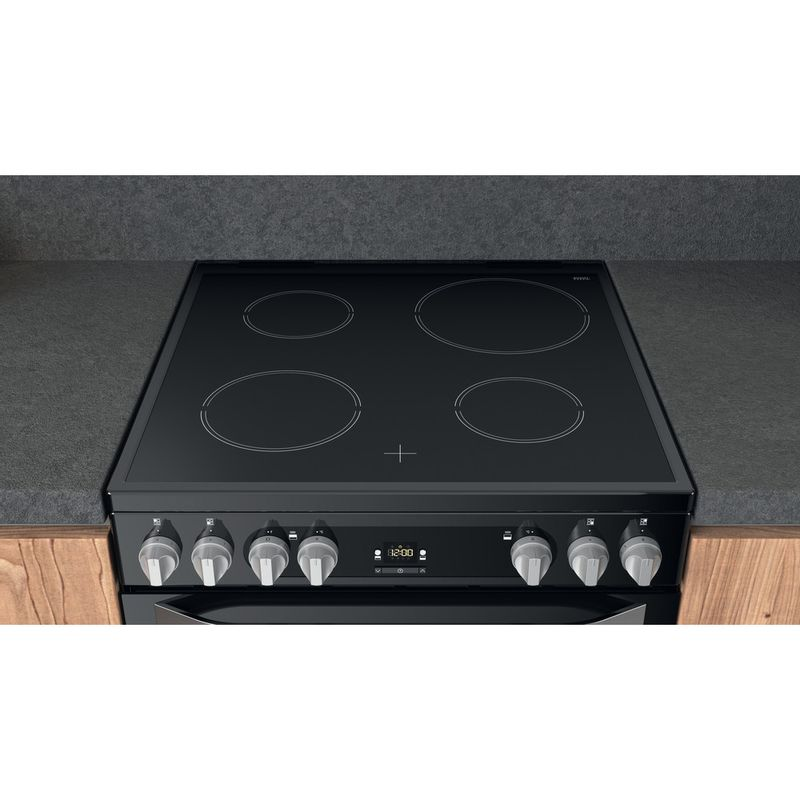 Hotpoint-Double-Cooker-HDM67V9HCB-U-Black-A-Lifestyle-frontal-top-down
