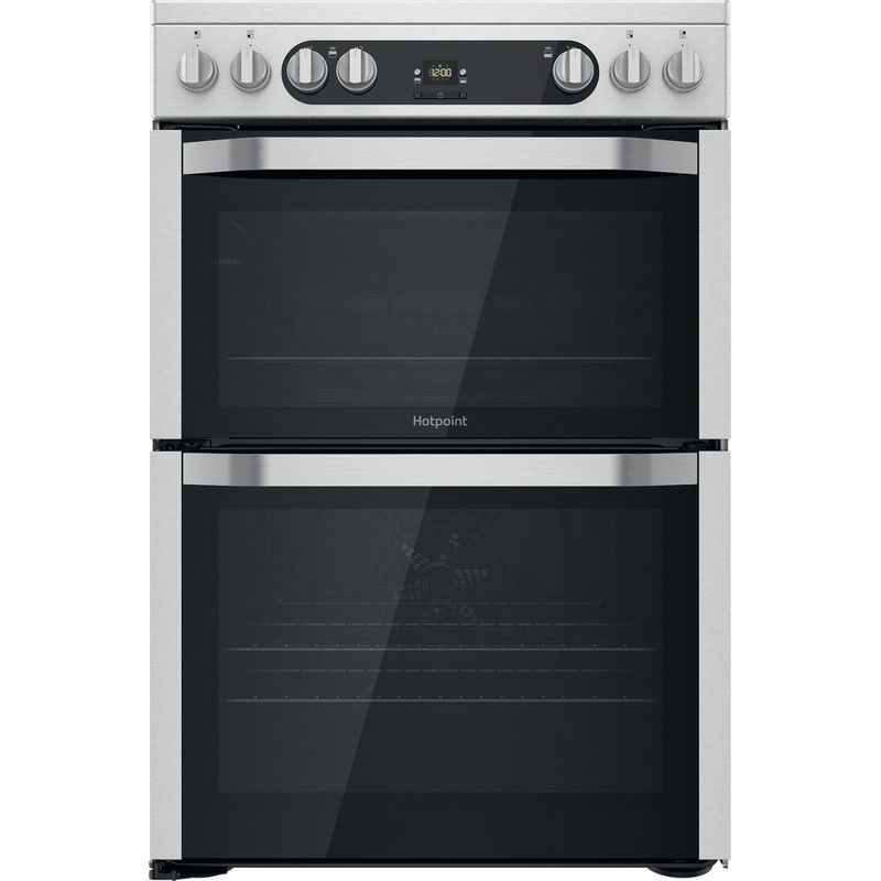 Hotpoint-Double-Cooker-HDM67V9HCX-UK-Inox-A-Frontal