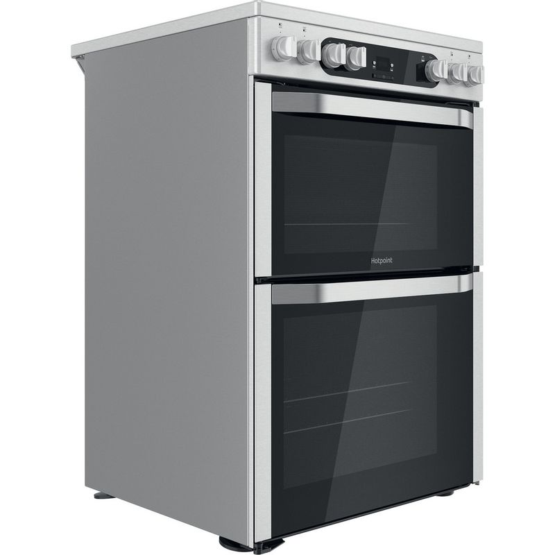 Hotpoint-Double-Cooker-HDM67V9HCX-UK-Inox-A-Perspective