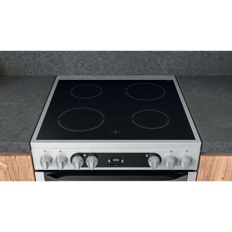 Hotpoint-Double-Cooker-HDM67V9HCX-UK-Inox-A-Lifestyle-frontal-top-down
