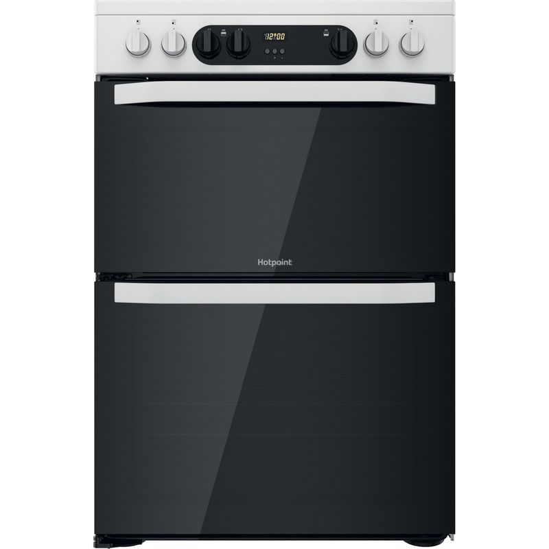 Hotpoint-Double-Cooker-HDM67V9CMW-U-White-A-Frontal