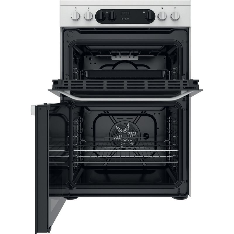Hotpoint-Double-Cooker-HDM67V9CMW-U-White-A-Frontal-open