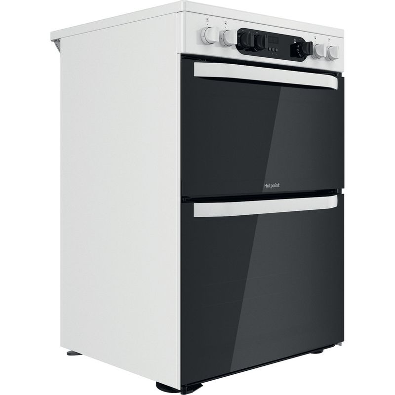 Hotpoint-Double-Cooker-HDM67V9CMW-U-White-A-Perspective