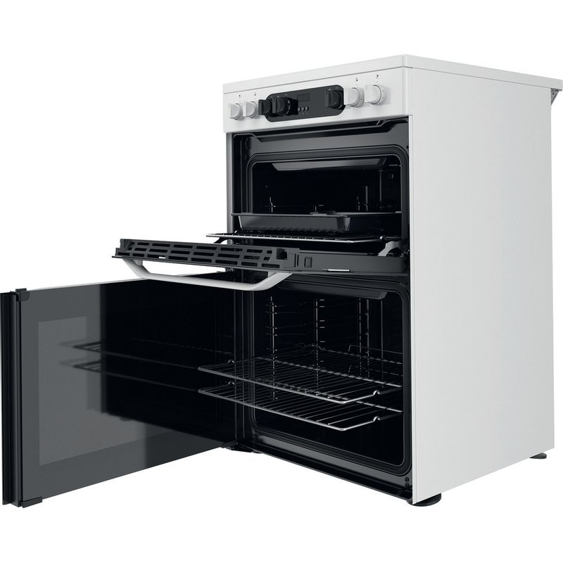Hotpoint-Double-Cooker-HDM67V9CMW-U-White-A-Perspective-open