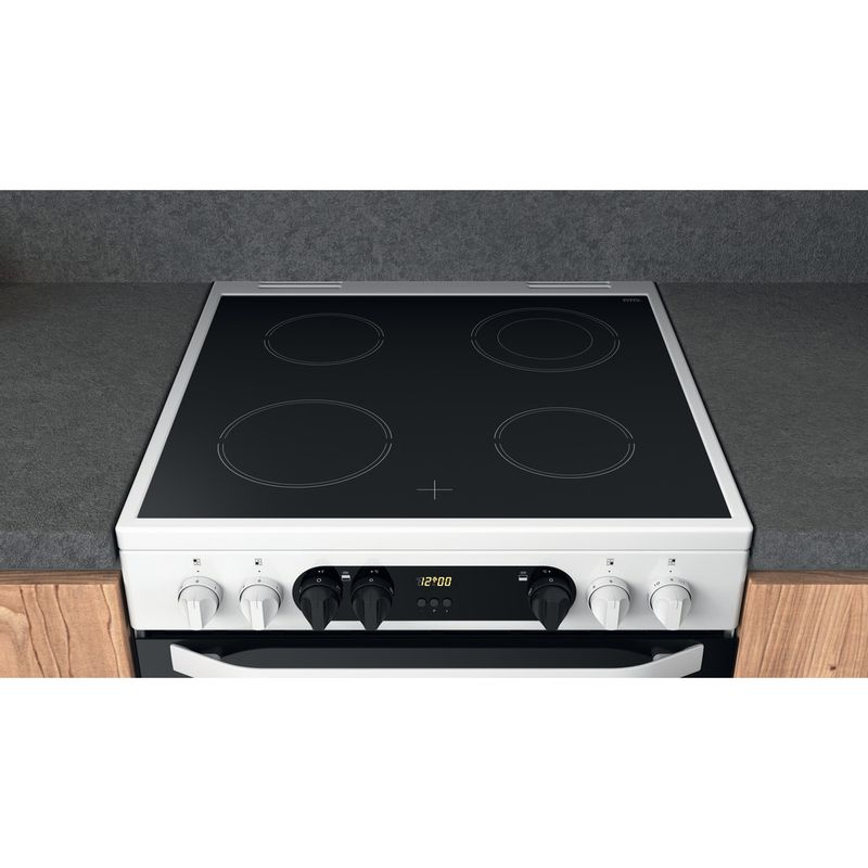Hotpoint-Double-Cooker-HDM67V9CMW-U-White-A-Lifestyle-frontal-top-down