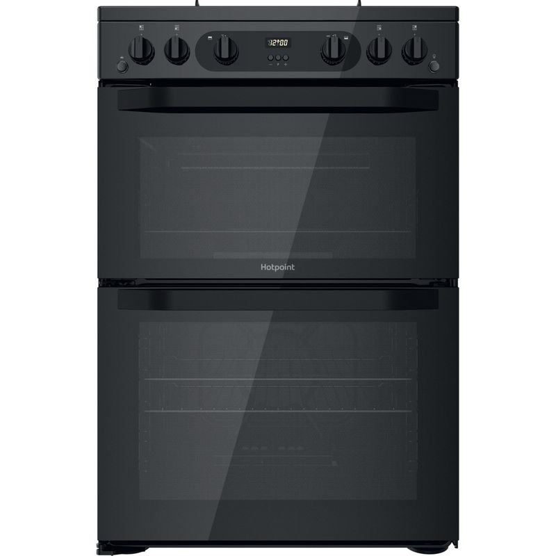 Hotpoint-Double-Cooker-HDM67G0CMB-UK-Black-A--Frontal