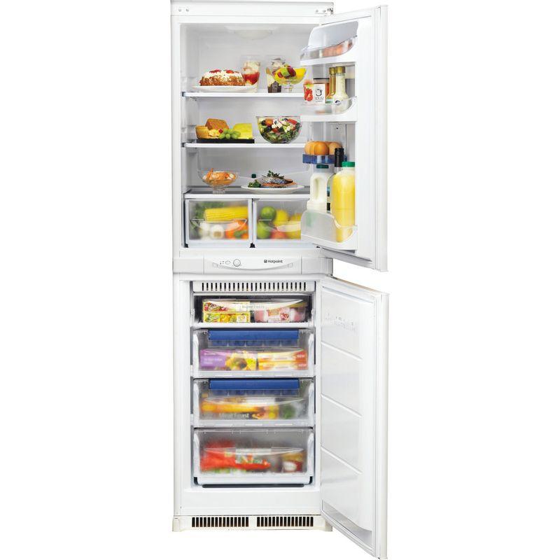 Hotpoint-Fridge-Freezer-Built-in-HM-325-FF-0-White-2-doors-Frontal-open
