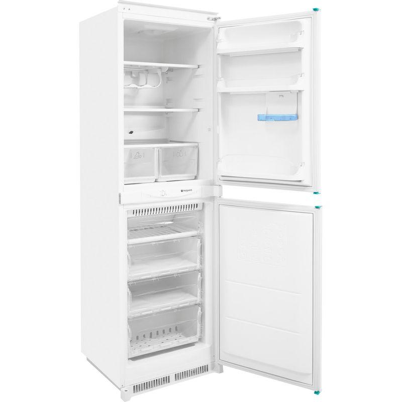 Hotpoint-Fridge-Freezer-Built-in-HM-325-FF-0-White-2-doors-Perspective-open
