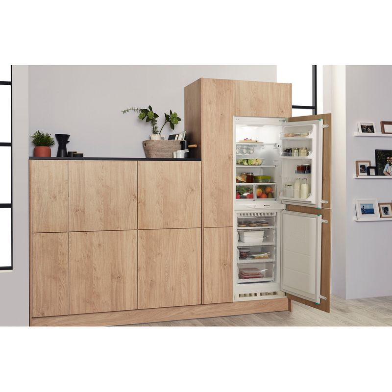 Hotpoint-Fridge-Freezer-Built-in-HM-325-FF-0-White-2-doors-Lifestyle-perspective-open