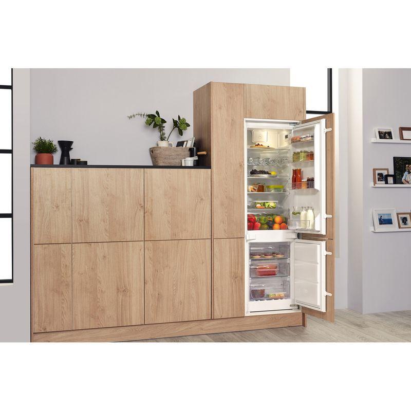 Hotpoint-Fridge-Freezer-Built-in-HMCB-7030-AA-DF-0-White-2-doors-Lifestyle-perspective-open