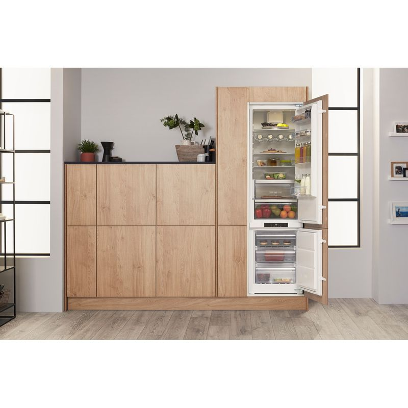 Hotpoint-Fridge-Freezer-Built-in-BCB-8020-AA-FC-0-White-2-doors-Lifestyle-frontal-open